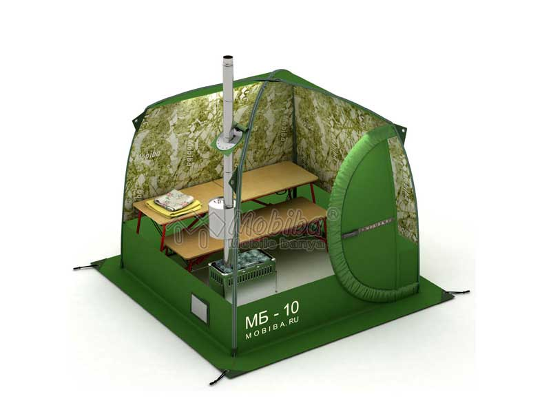 Mobile Sauna Mobiba MB-10 - Innenansicht