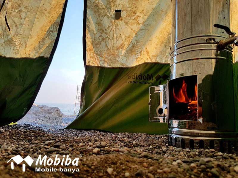 Holzofen der Mobiba RB-170 K2 Rucksack Sauna
